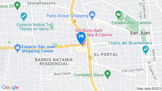 Del Bono Park Hotel Spa & Casino Map