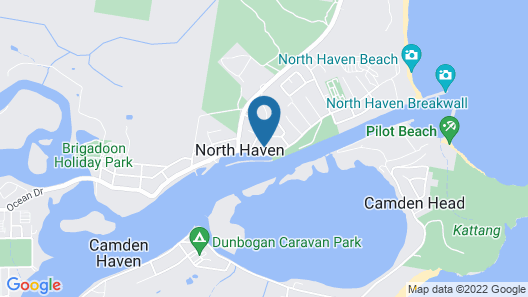 Haven Waters Motel & Apartments Map