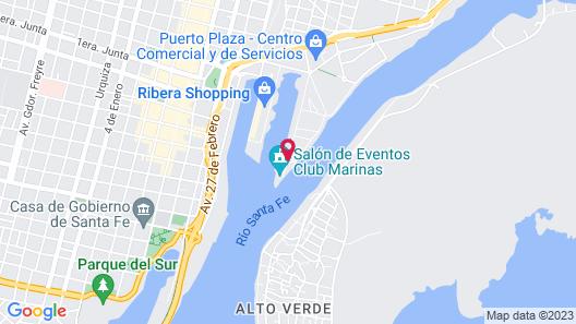 Hotel Puerto Amarras Map