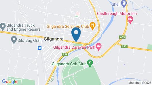 Gilgandra Motel Map