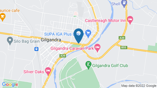 Orana Windmill Motel Map