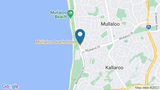 Mullaloo Beach Hotel & Apartments Map