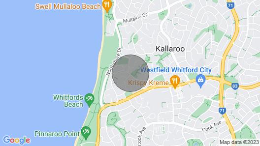 Henderson Hideaway 300 Meters to the Beach Map