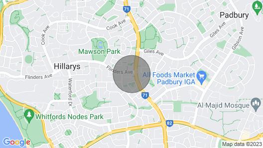 !! Hillary's On Mawson Park!! Map