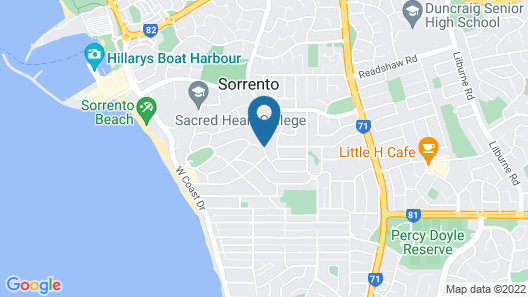 Sorrento Beach Bed & Breakfast Map