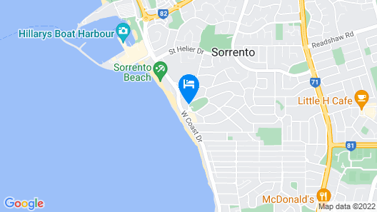 Quality Resort Sorrento Beach Map