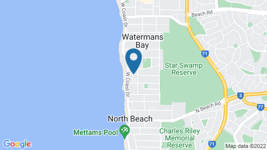 Ocean View Motel Map