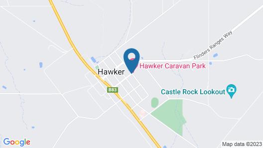 Big4 Hawker Holiday Park Map