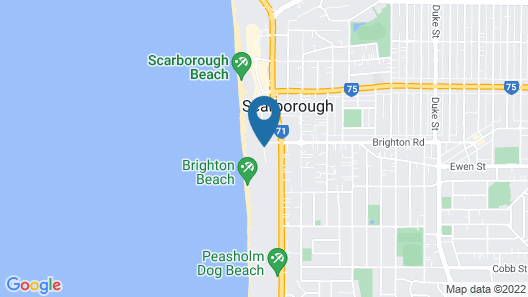 Beach Manor Bed & Breakfast Map