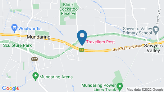 Travellers Rest Motel Map