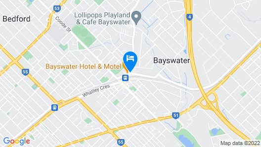 Quality Hotel Bayswater Map