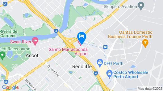Sanno Marracoonda Perth Airport Hotel Map