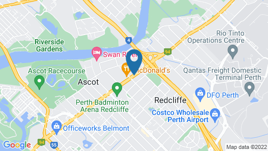 Perth Ascot Central Apartment Hotel Map
