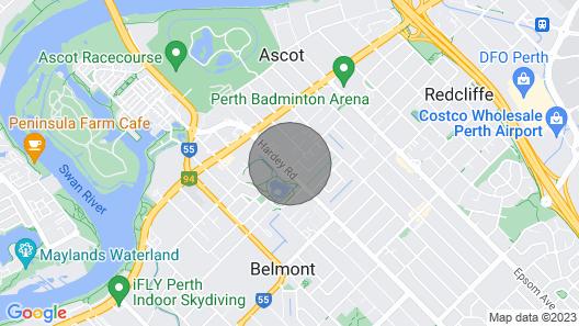 Luxury Sanitised Apt. Close to Perth/stadium/river/airport/shops.opposite Park Map