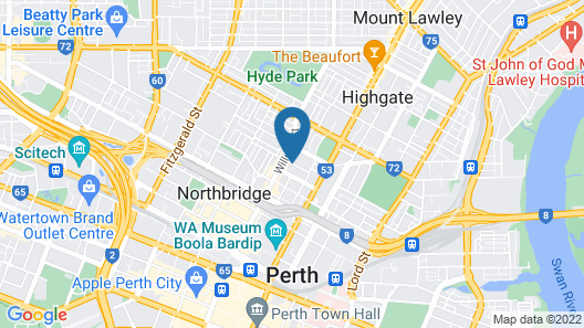 Great Southern Hotel Perth Map