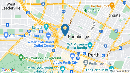 Central Perth Apartment Map