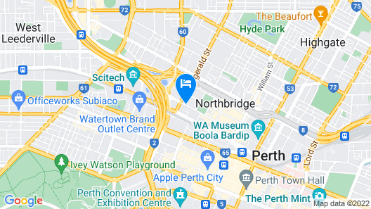 Best Western Northbridge Apartments Map