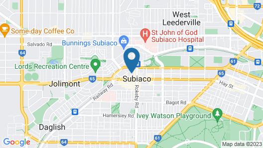 Vibe Hotel Subiaco Perth Map