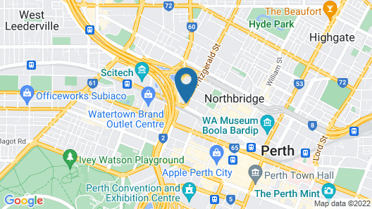Perth 5 Backpacker Hostel Map
