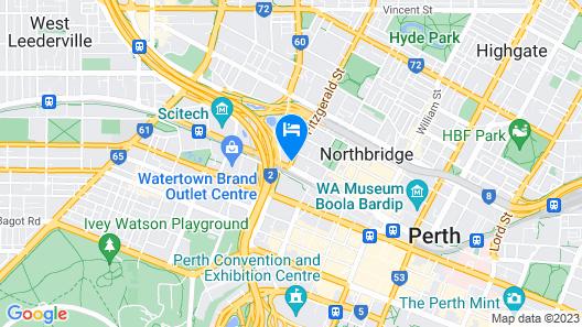 Perth 5 Backpacker Hostel Map