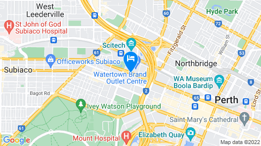 Perth Central City Stay Apartment Hotel Map