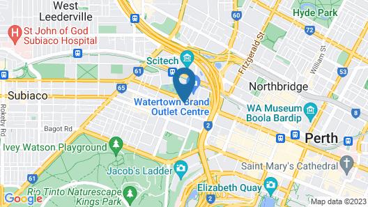 Perth City Apartment Hotel Map