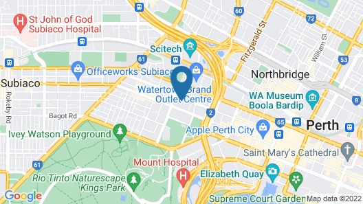 The Sebel West Perth Aire Apartments Map