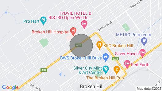 Miffys Cottage Broken Hill Map