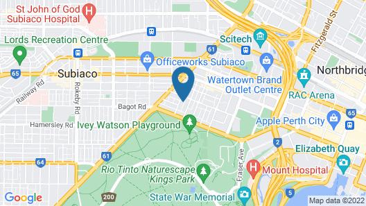 Kings Park Manor Premium Location 2bedroom West Perth Map