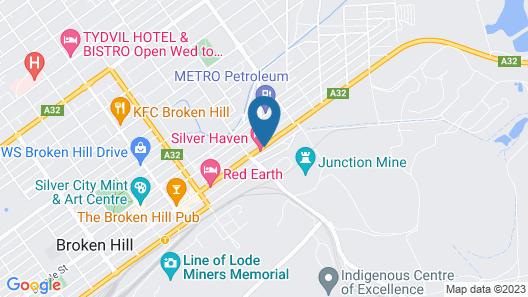 Silver Haven Motor Inn Map