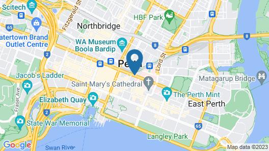 Perth City YHA - Hostel Map