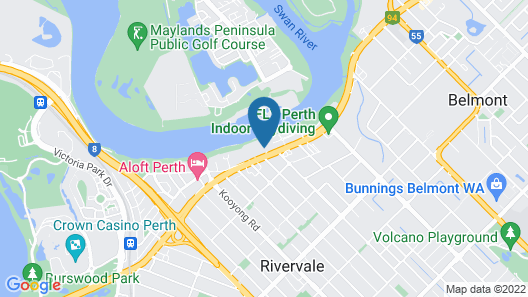 Riverside Apt Minutes from Perth CBD Map