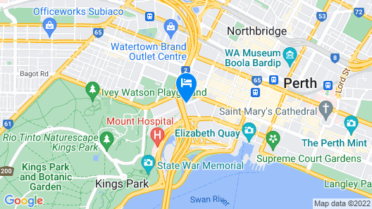 Rendezvous Hotel Perth Central Map