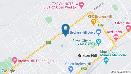 Hilltop Motel Map