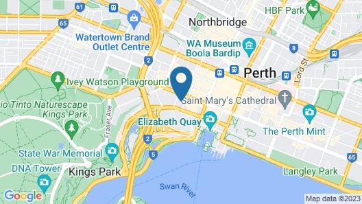 Parmelia Hilton Perth Map