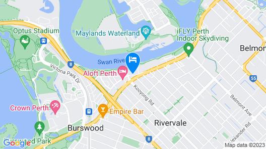 Burswood Lodge Apartments Map