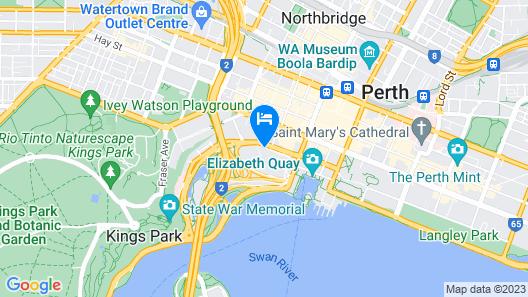Adina Apartment Hotel Perth Map