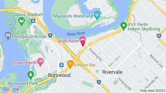 Aloft Perth Map