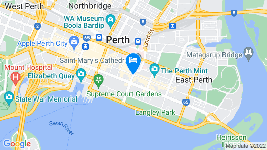 Travelodge Hotel Perth Map