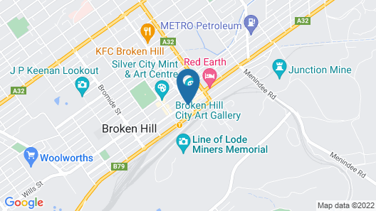 The Astra Hotel Map