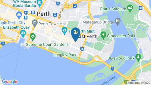 Comfort Hotel Perth City Map