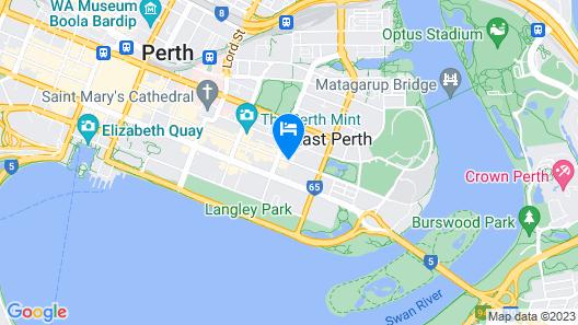 Comfort Hotel Perth City Map