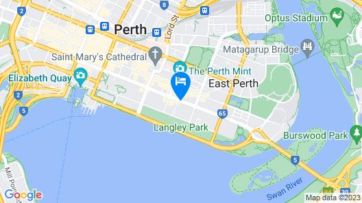 Quality Hotel Ambassador Perth Map