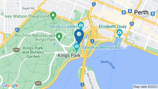 Sullivans Hotel Perth Map