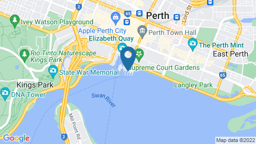 DoubleTree by Hilton Perth Waterfront Map