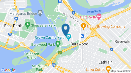 Crown Towers Perth Map