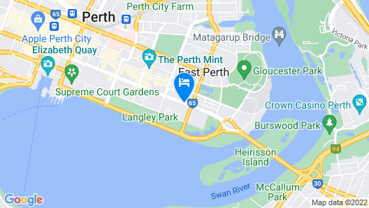 Hyatt Regency Perth Map