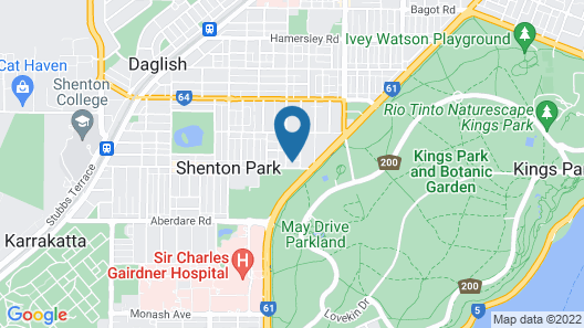 Rosalie Apartment Central Perth Location Map