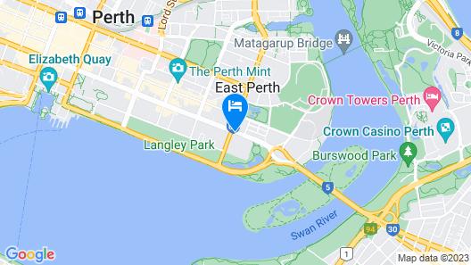Fraser Suites Perth Map