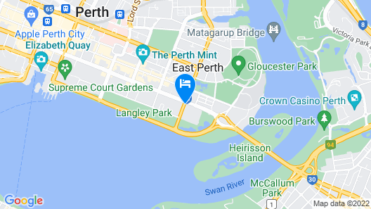 Ibis Styles East Perth  Map